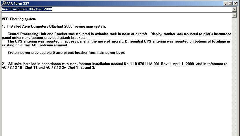 FAA Form 337 Software
